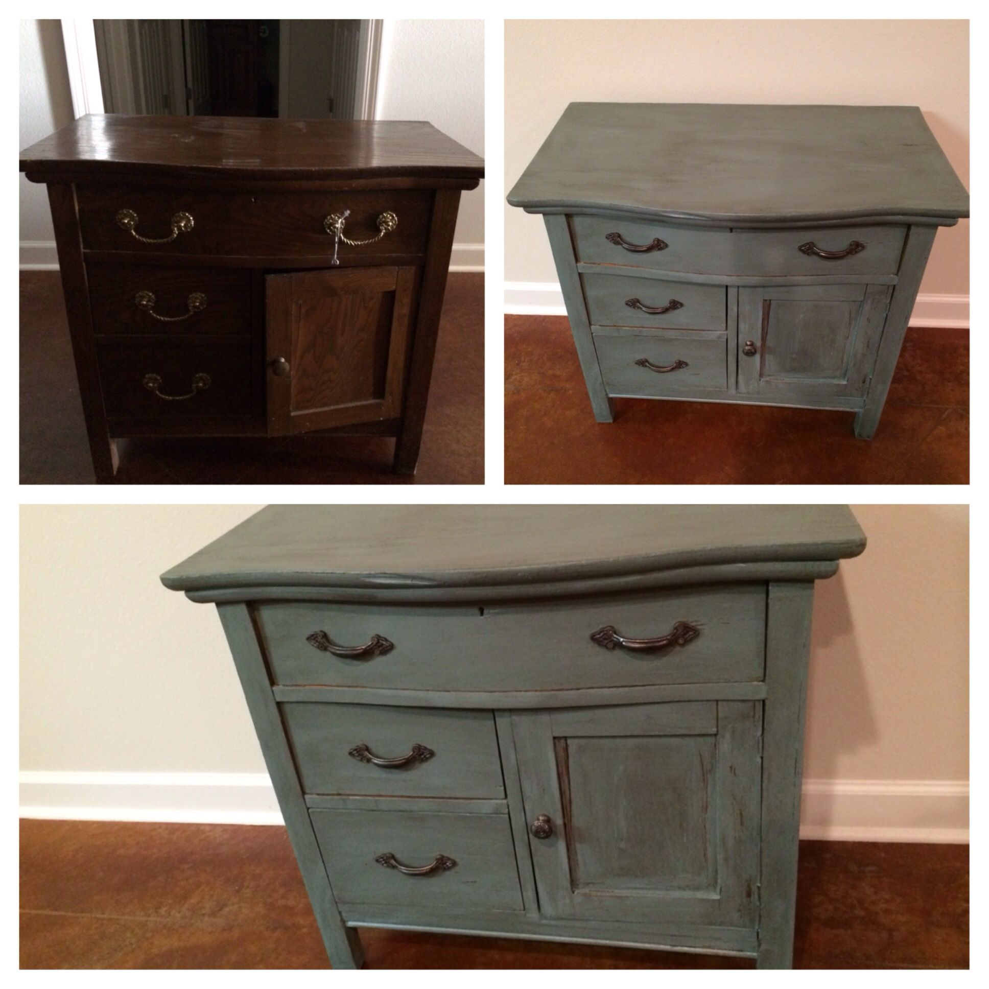 Vintage Dresser Redo Valspar Paint With Antiquing Glaze