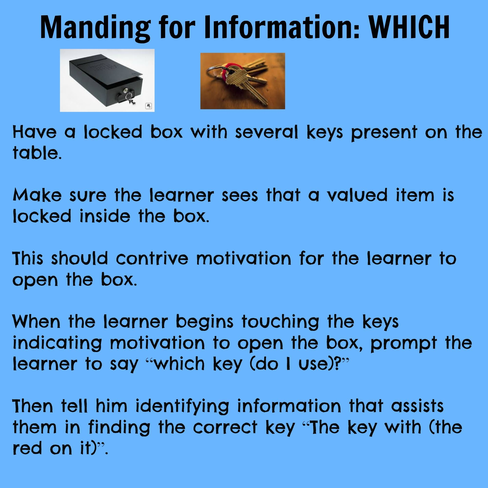 Manding For Information Which