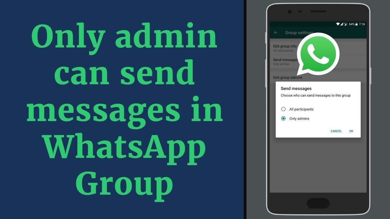 Only Admin Can Send Messages In Whatsapp Group Whatsapp New Feature Messages Whatsapp Group Send Message