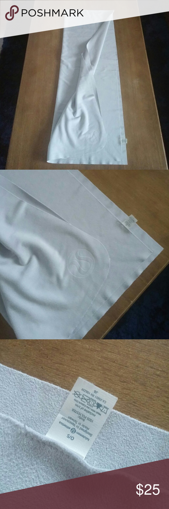 Lululemon towel or mat cover In excellent condition. Light grey in color. Feels like suede microfiber. Selling as is its a good big size. lululemon athletica Other