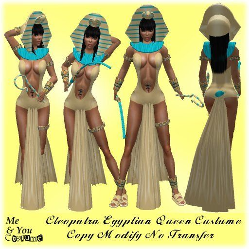 ***Me & You Costume Cleopatra Egyptian Queen Costume Outfit