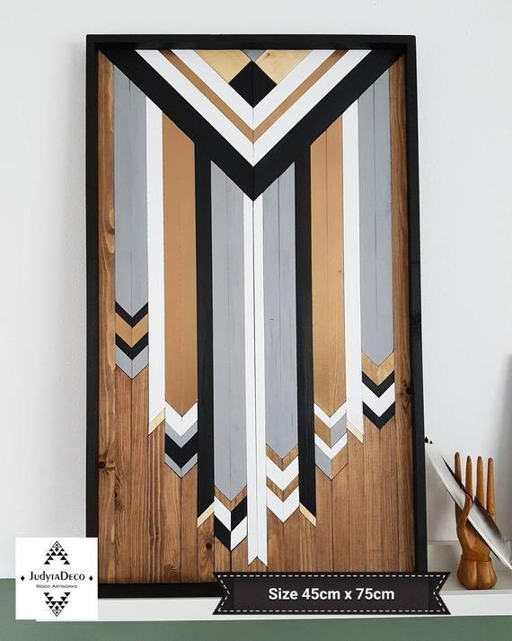 Dream Catcher, Boho Wood Wall Art ,Wooden Wall Art ,Geometric Wood Art ,Modern Wall Art ,Wood Art Wall Hanging ,Aztec Art ,Wood Artwork
