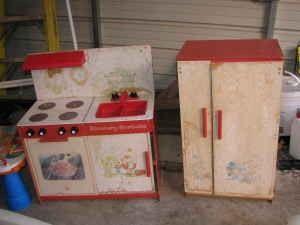 Strawberry Shortcake Kitchen Set Vintage Toys