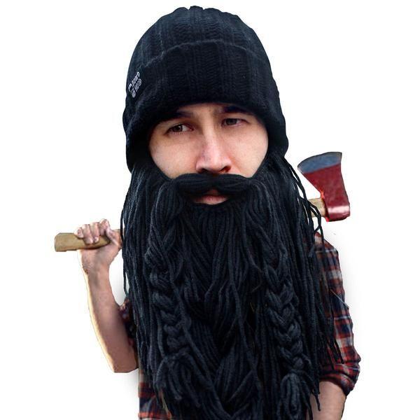 Beard Hat Beanie - Funny Knit Roadie Beard Head