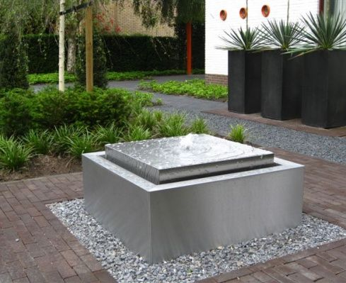 Modern water element outdoors contemporary water
