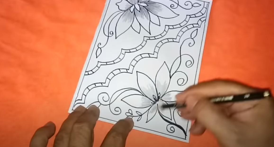 Cara Menggambar Batik Dibuku Gambar Yang Mudah Digambar Pemula Dizeen Cara Menggambar Gambar Batik