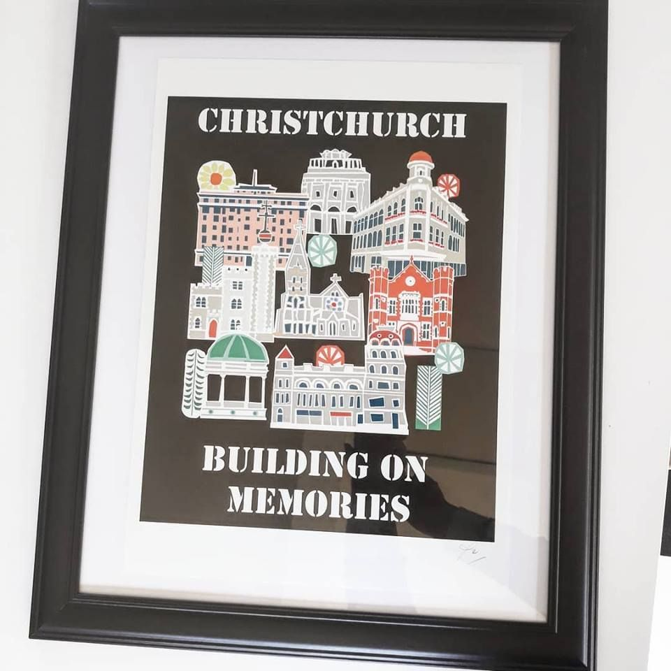 11x14 Inch Print Signed And In A 57x46cm Frame Christchurch Art For Sale Print
