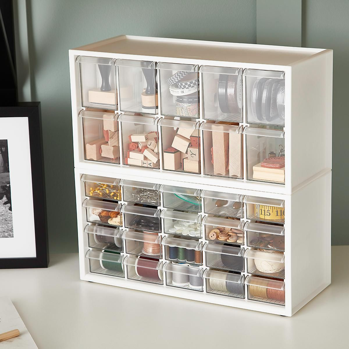 Stackable Craft Organizer Drawers In 2020 Organize Drawers