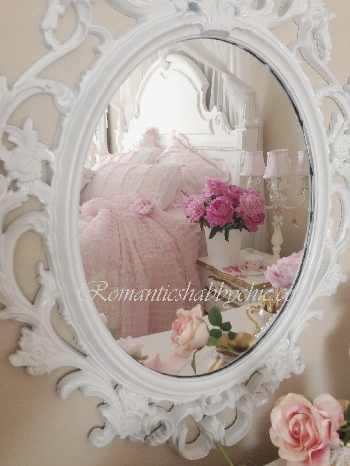 decoracion romantica dormitorios romnticos dulce vida recibidores espejos dormir rosas estilo shabby chic romntico shabby chic