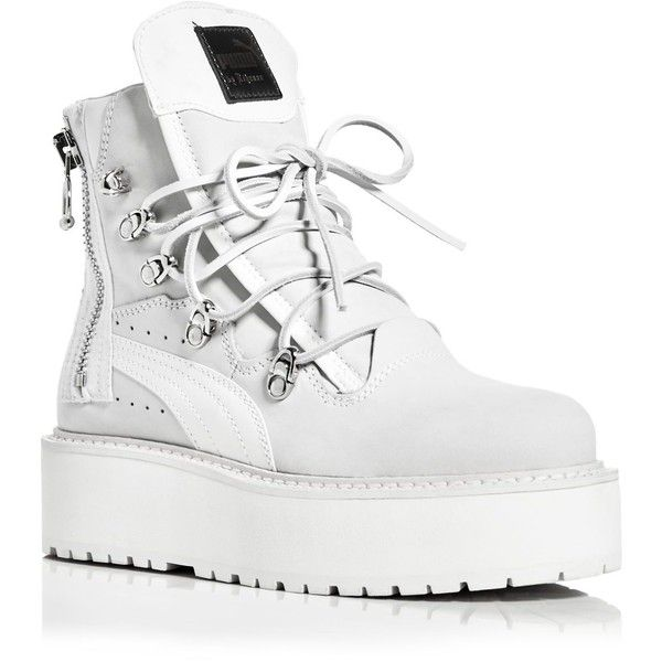 3da541be433 Fenty Puma x Rihanna Platform Sneaker Boots ( 345) ❤ liked on Polyvore  featuring shoes