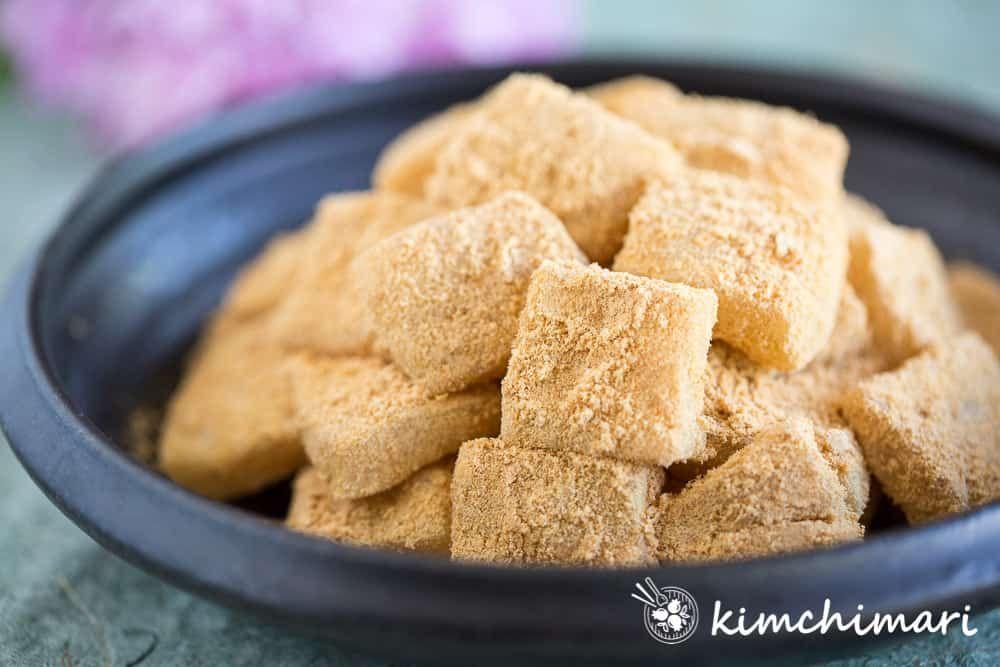 Injeolmi korean sweet rice cake in 10 minutes recipe