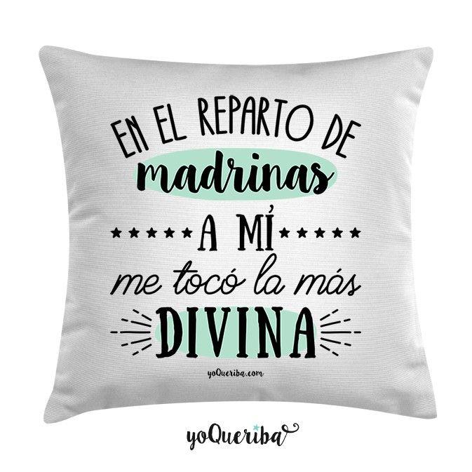 Cojín Mi Madrina La Más Divina Bautizo Regalos Bautizo