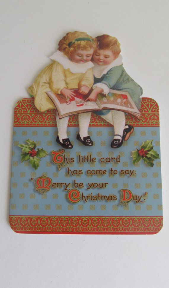 Victorian Children Christmas Blank Christmas by ReVintageLannie