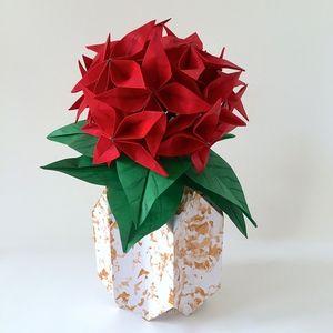 Origami flower bulb in origami vase medium origami flower origami flower bulb in origami vase mightylinksfo