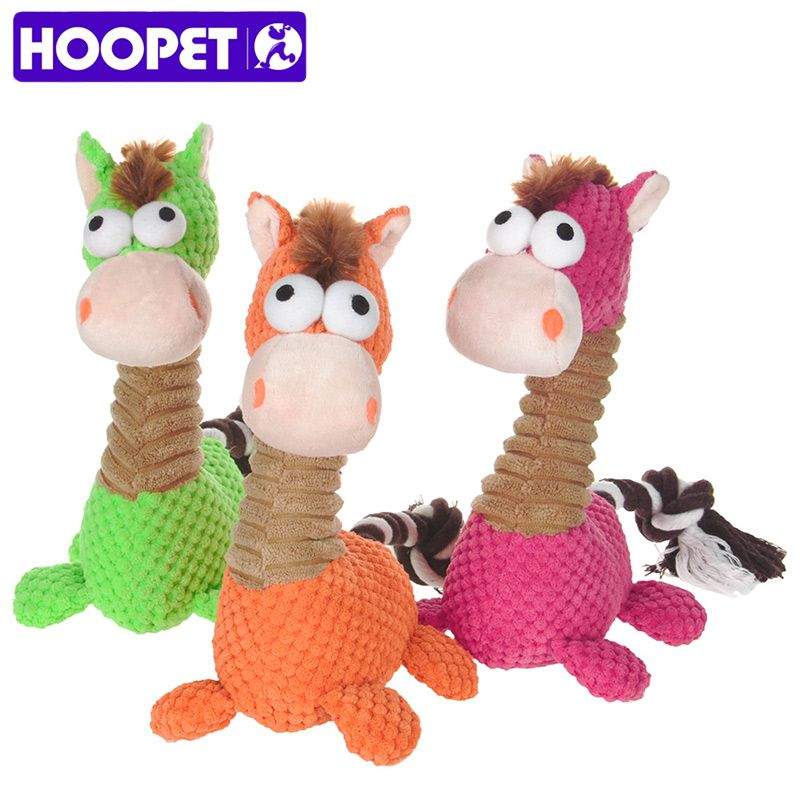 Hoopet Pet Puupy Dog Lovely Toy Sound Chew Squeaker Little Horse