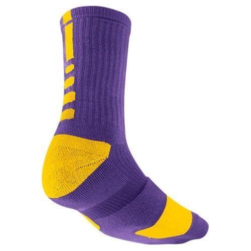f32635606c7 HTF Nike ELITE Crew BBall Sock Court Purple/University Gold SX3693-517  Small 4-6 #Nike #Athletic