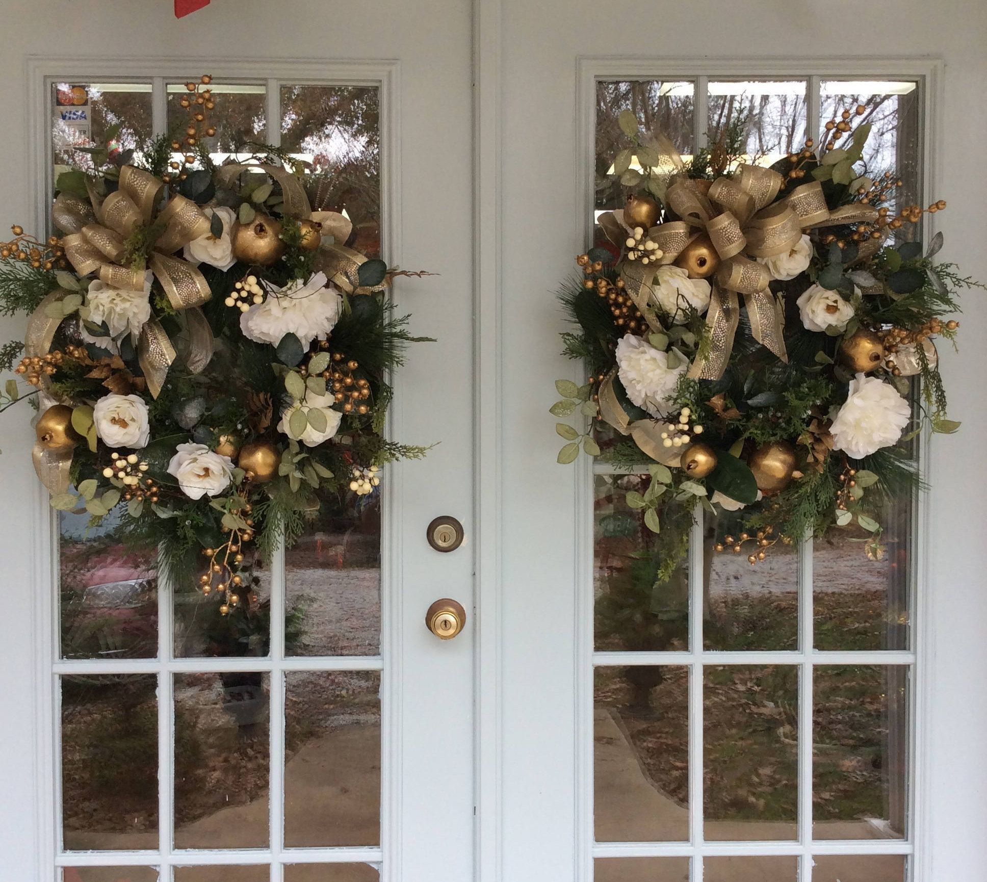 Elegant Double Door Christmas Wreaths Matching Christmas Etsy Christmas Wreaths Double Door Christmas Wreaths