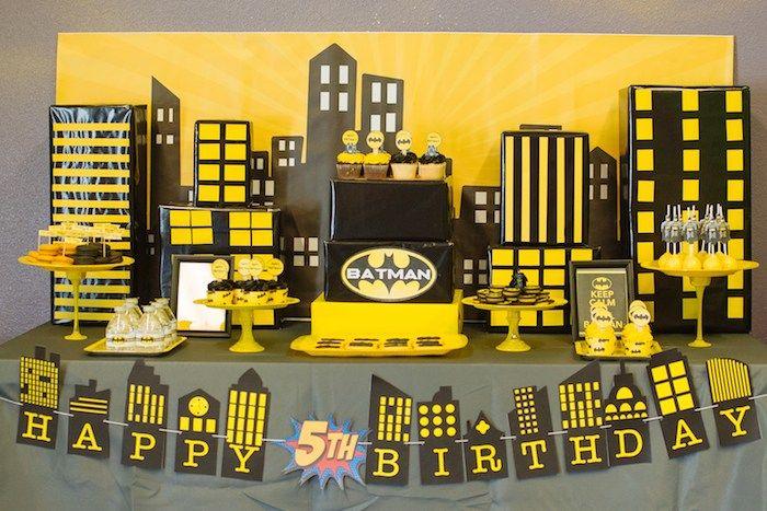 Batman Birthday Party Themed birthday parties Birthdays and