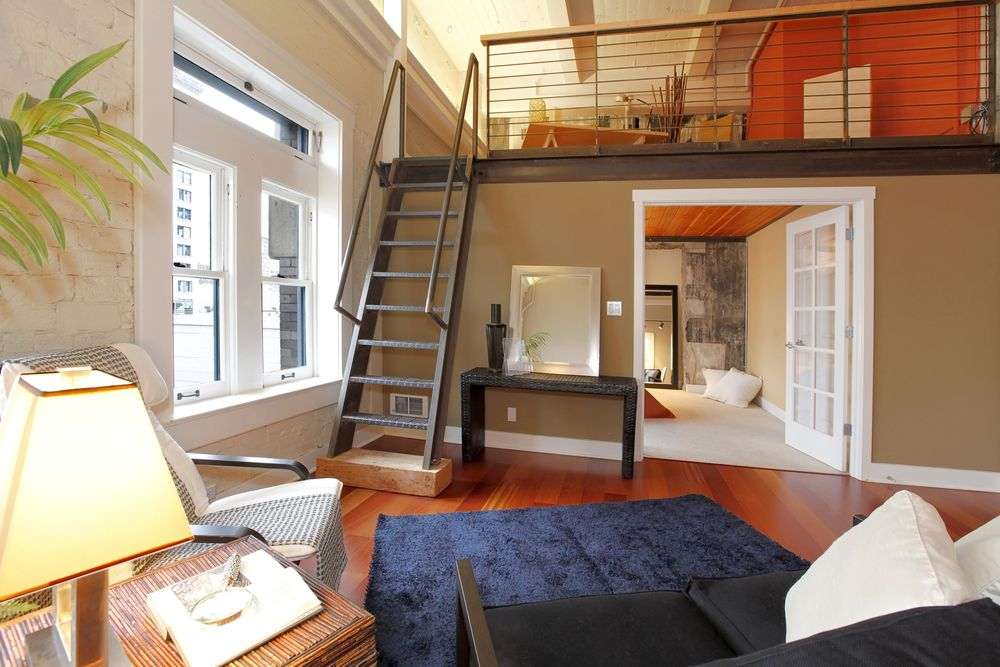 This Home Uses A Loft To Create Two Bedrooms It S Possible Because Of The Cathedral Ceiling