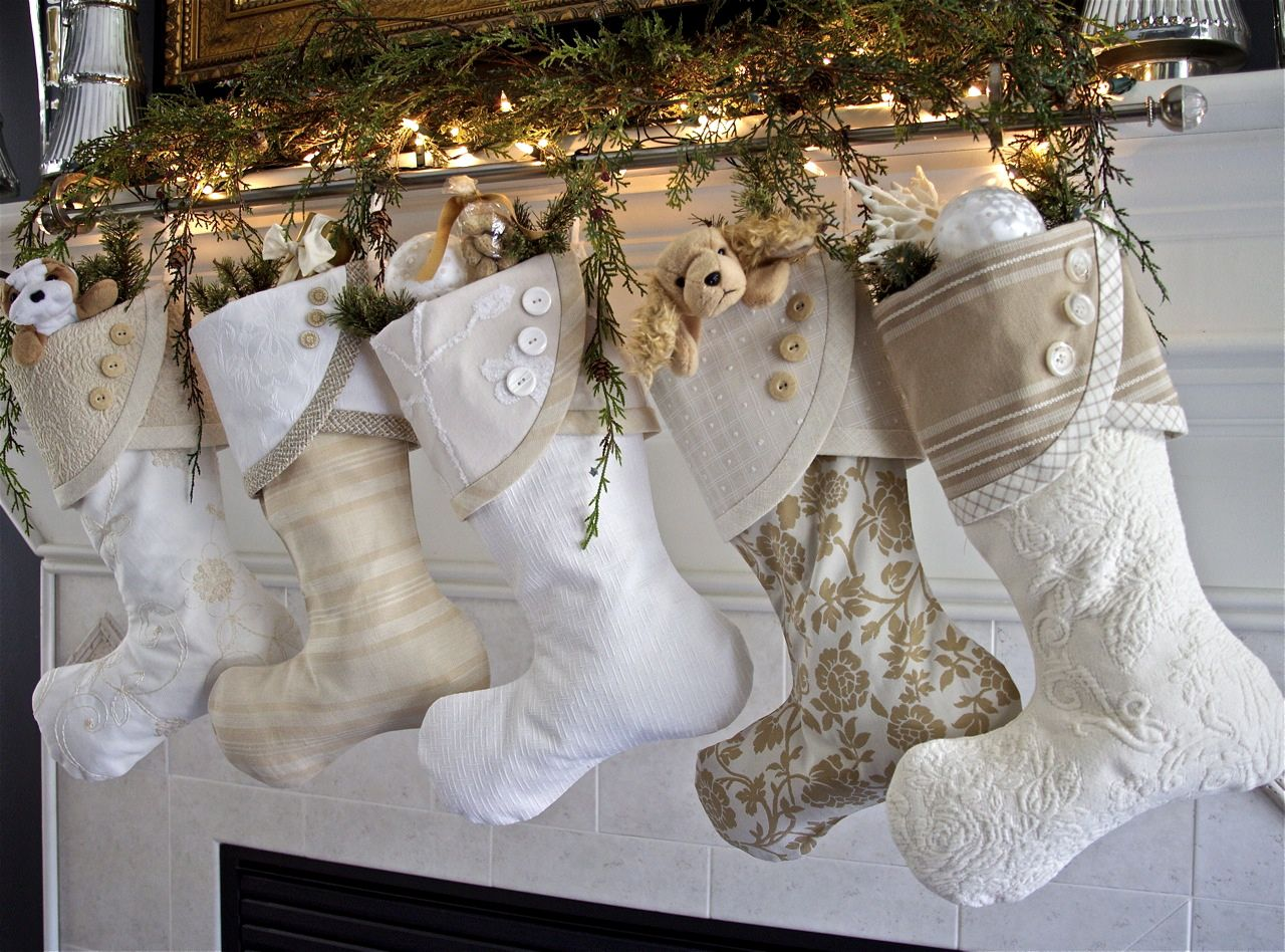 such a brilliant ideatwo stocking holders and a curtain rod to hold christmas dcorchristmas fashionchristmas ideascoastal - Coastal Christmas Stockings
