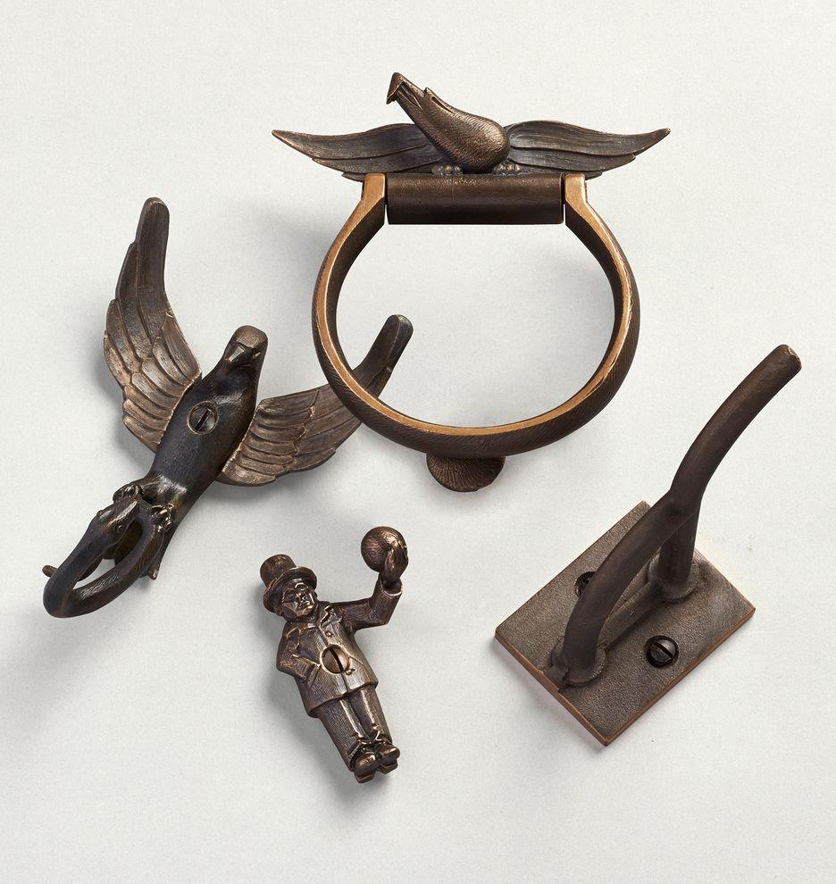 Antique brass front door knobs  Rejuvenation OuG American Eagle Door Knocker  Doors Door knobs and