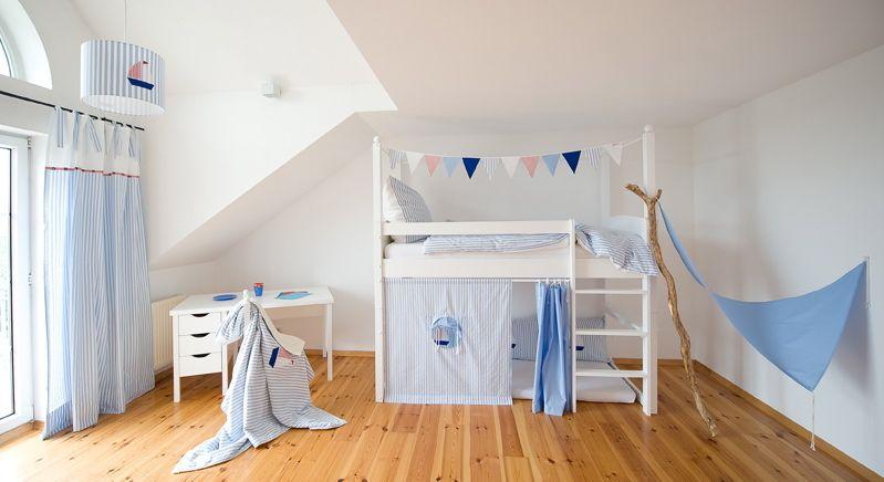 Hochbettvorhange Blau Etsy Vorhange Vorhange Gardinen Streifenvorhange