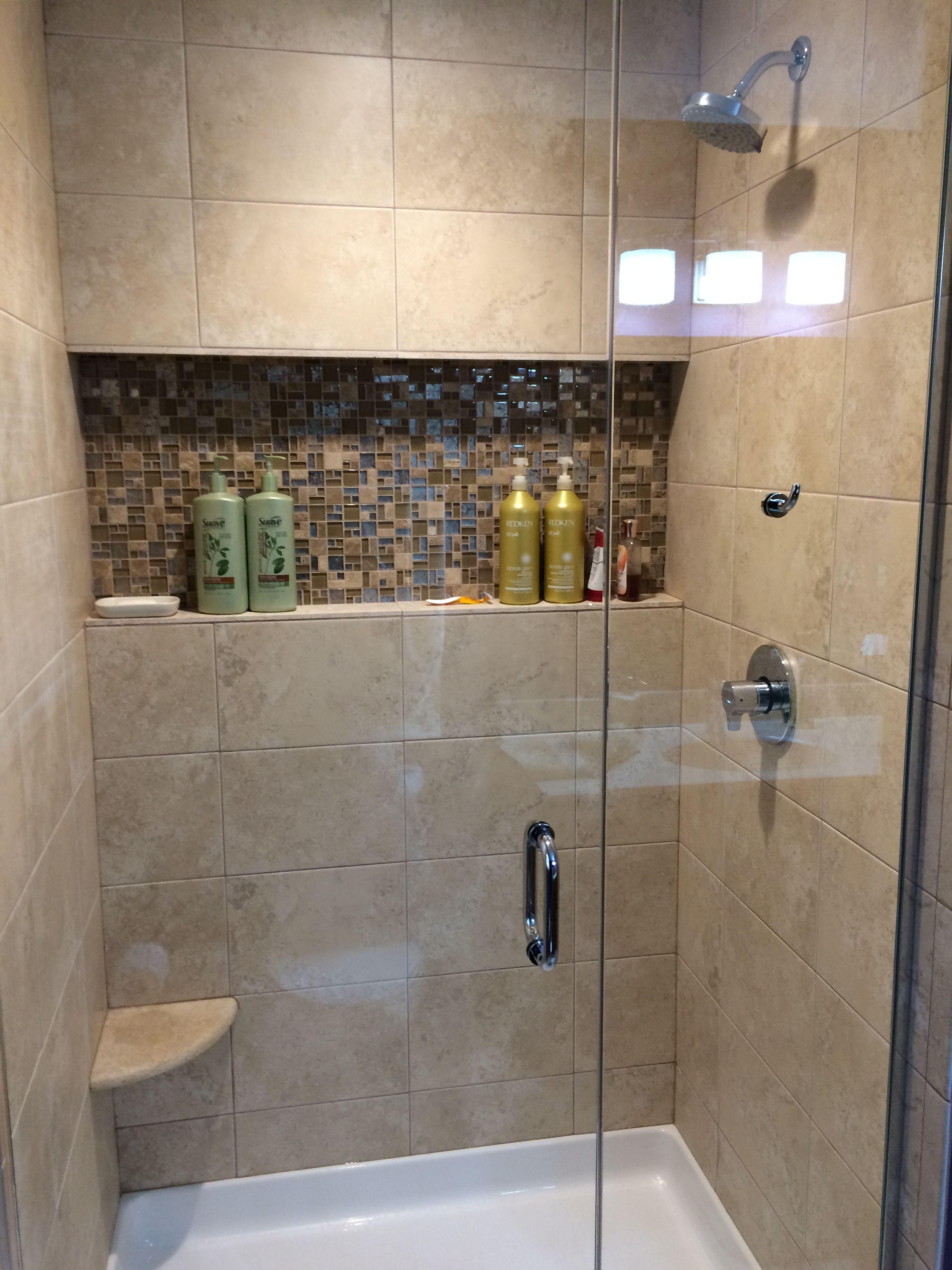 walk in showers with glass doors. Frameless Glass Door To Walk In Shower  Niche Pinterest