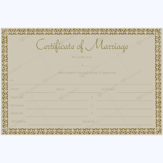 Editable Marriage Certificate #marriage #certificateofmarriage #wedding #weddingtemplate