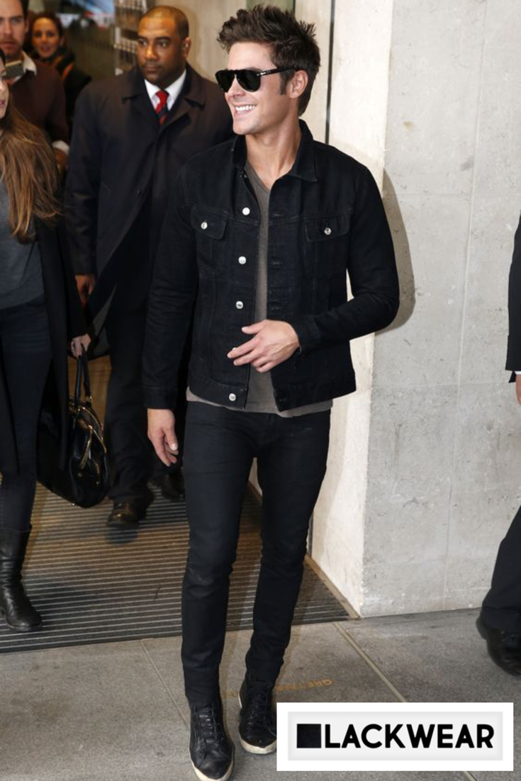 Keeping It Casual Black Denim Jacket Men Mens Casual Outfits Black Casual Outfits [ 1102 x 735 Pixel ]