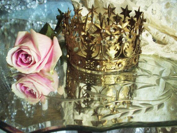 Vintage French Santo's 12 Stars & Flowers Crown by RomanceinParis