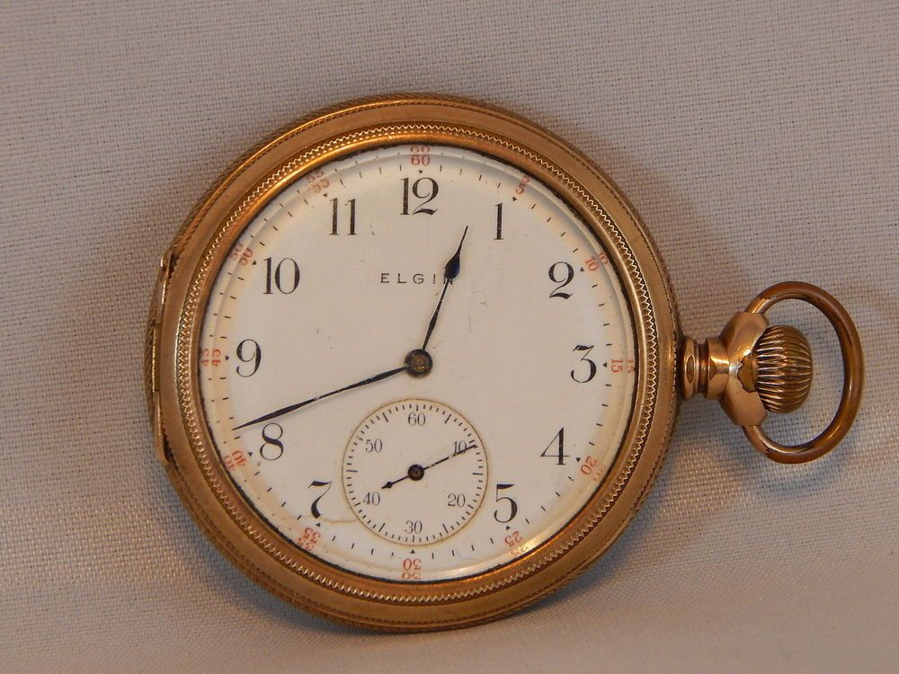 antique elgin pocket watch how to open