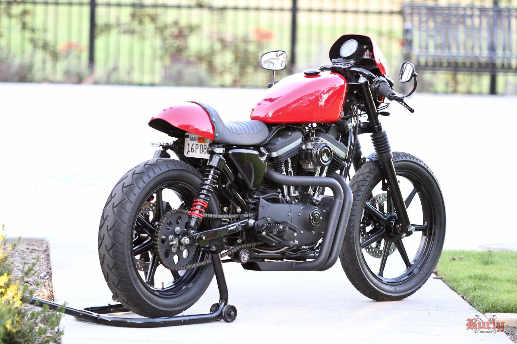 Cafe Tail Section Cafe Style Seat Burly Brand Harley Handlebars Cafe Racer Harley Davidson Sportster [ 1200 x 1800 Pixel ]