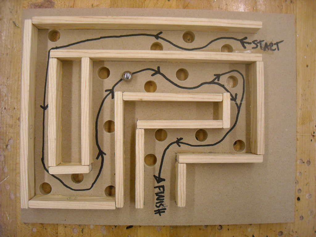 Wooden Craft Ideas For Kids Part - 19: Kid Made - Wood Labyrinth! Wooden CraftsWooden ProjectsWooden ...