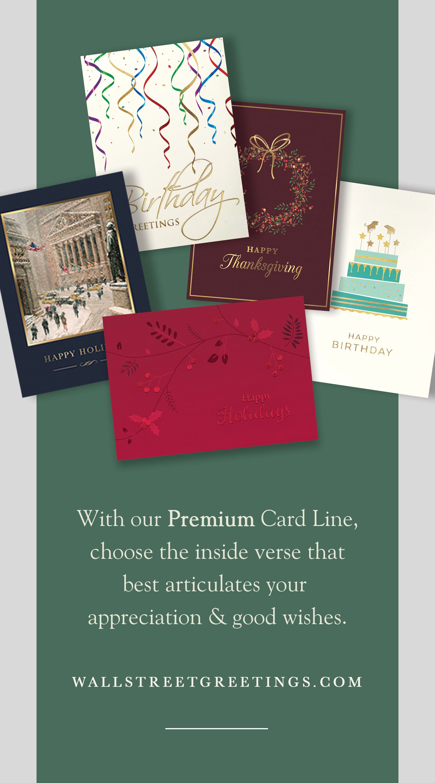 Premium cards at affordable prices business greeting cards premium holiday cards for the finance industry and business professionals reheart Choice Image