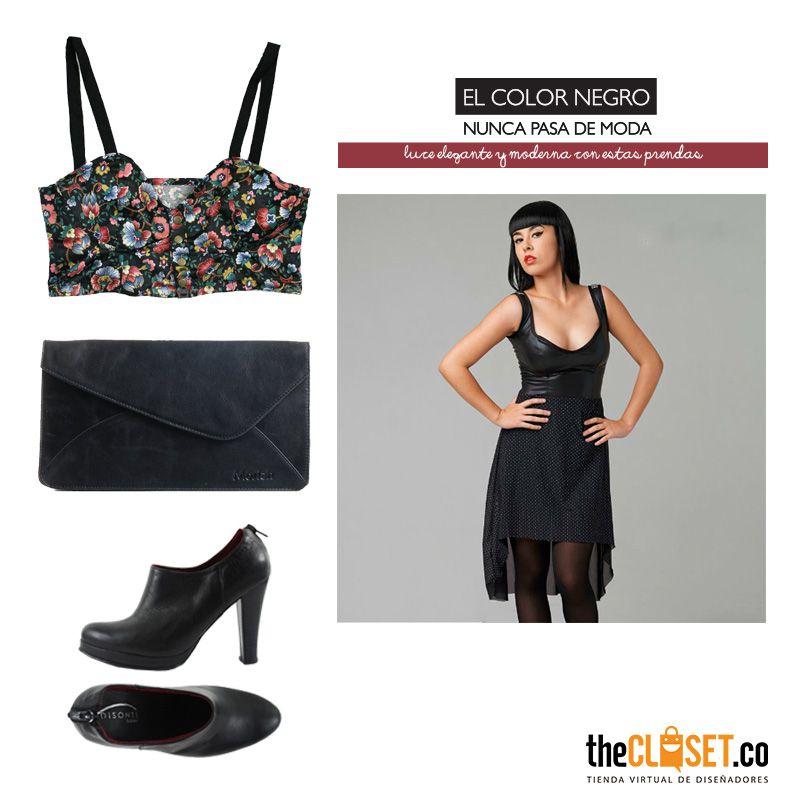 El color negro nunca pasa de moda, luce elegante y moderna con estas prendas de nuestra #RedDeDiseñadores Ingresa a nuestra tienda online: http://www.thecloset.co/