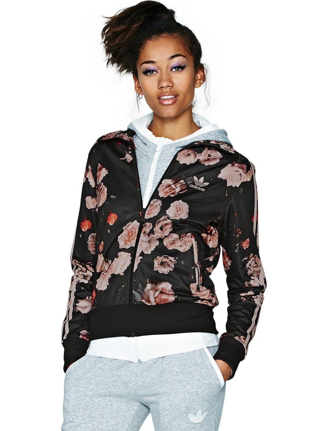 adidas originals firebird rose flower print