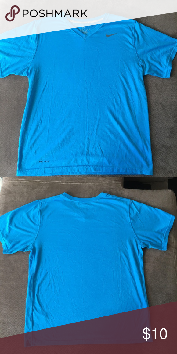 8d6ac5ddd Nike Dri Fit tee shirt (Medium) Men's Nike Dri Fit Color: baby Blue Size:  Medium Nike Shirts Tees - Short Sleeve