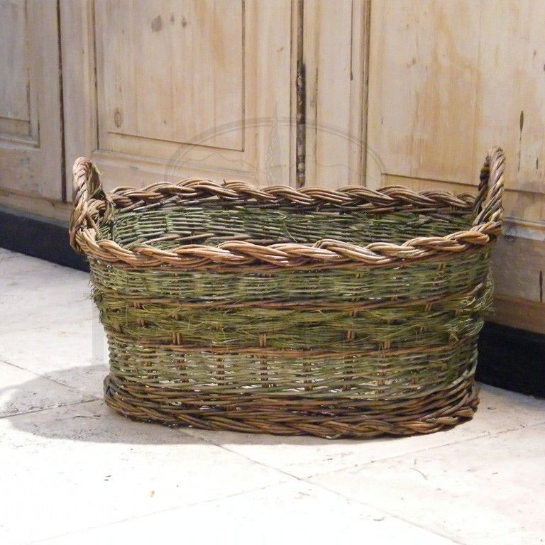 Basket Weaving With Reeds : Green baskets from provence reed basketry art