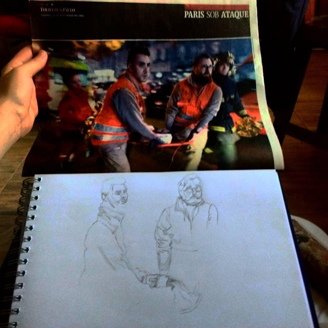 Treinando o desenho (folha de SP do dia 14/de novembro de 2015 caderno Paris sob ataque)