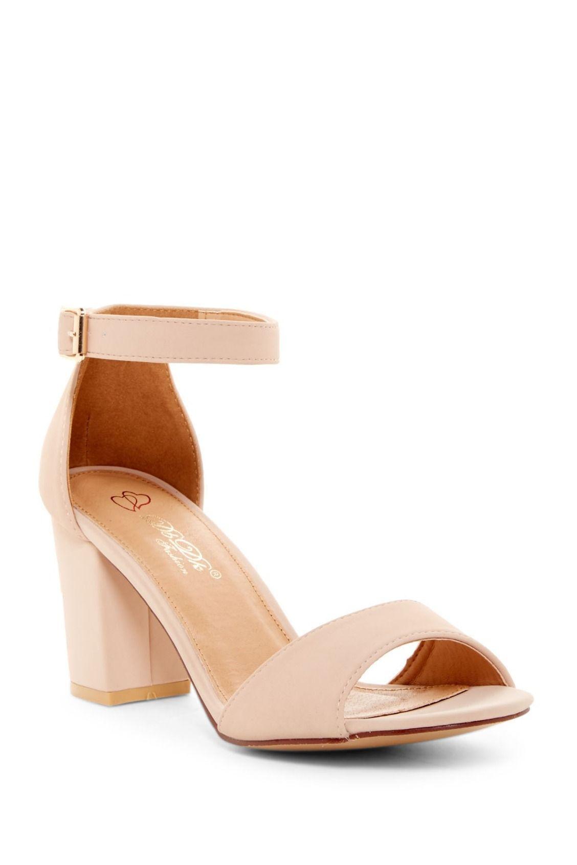 45bc07492db Classic Nude DBDK Fashion Nicola Block Heel Sandals Zapatos