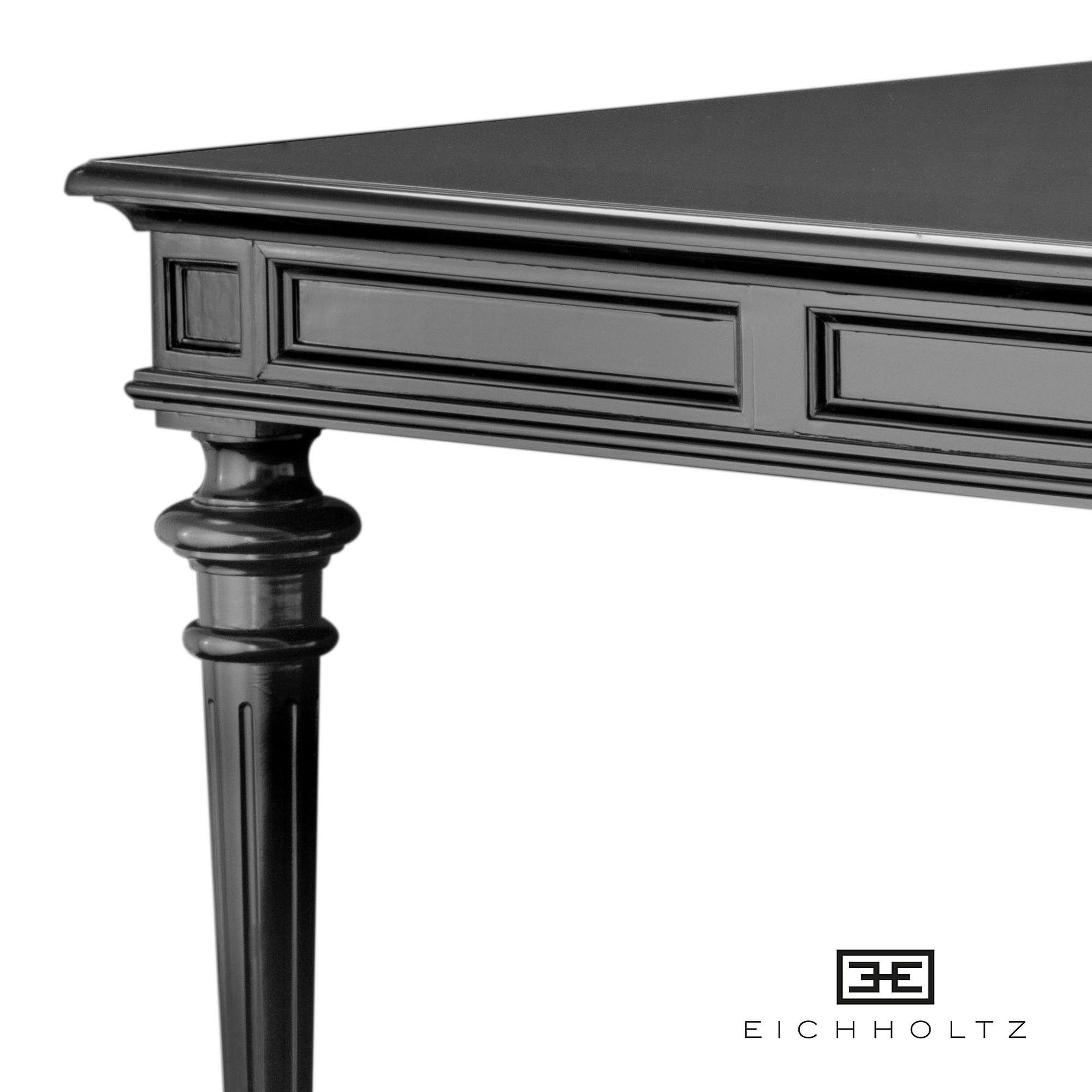 Zwarte Klassieke Sidetable.Eichholtz Zwarte Klassieke Tafel Dining Table Wallace 210cm
