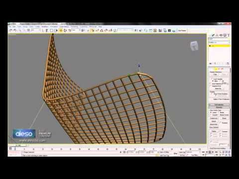 Chair Modeling Using Spline In 3ds Max Youtube