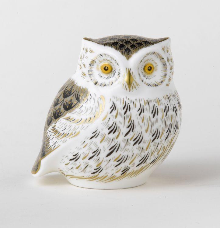 Royal Crown Derby Little Grey Owl