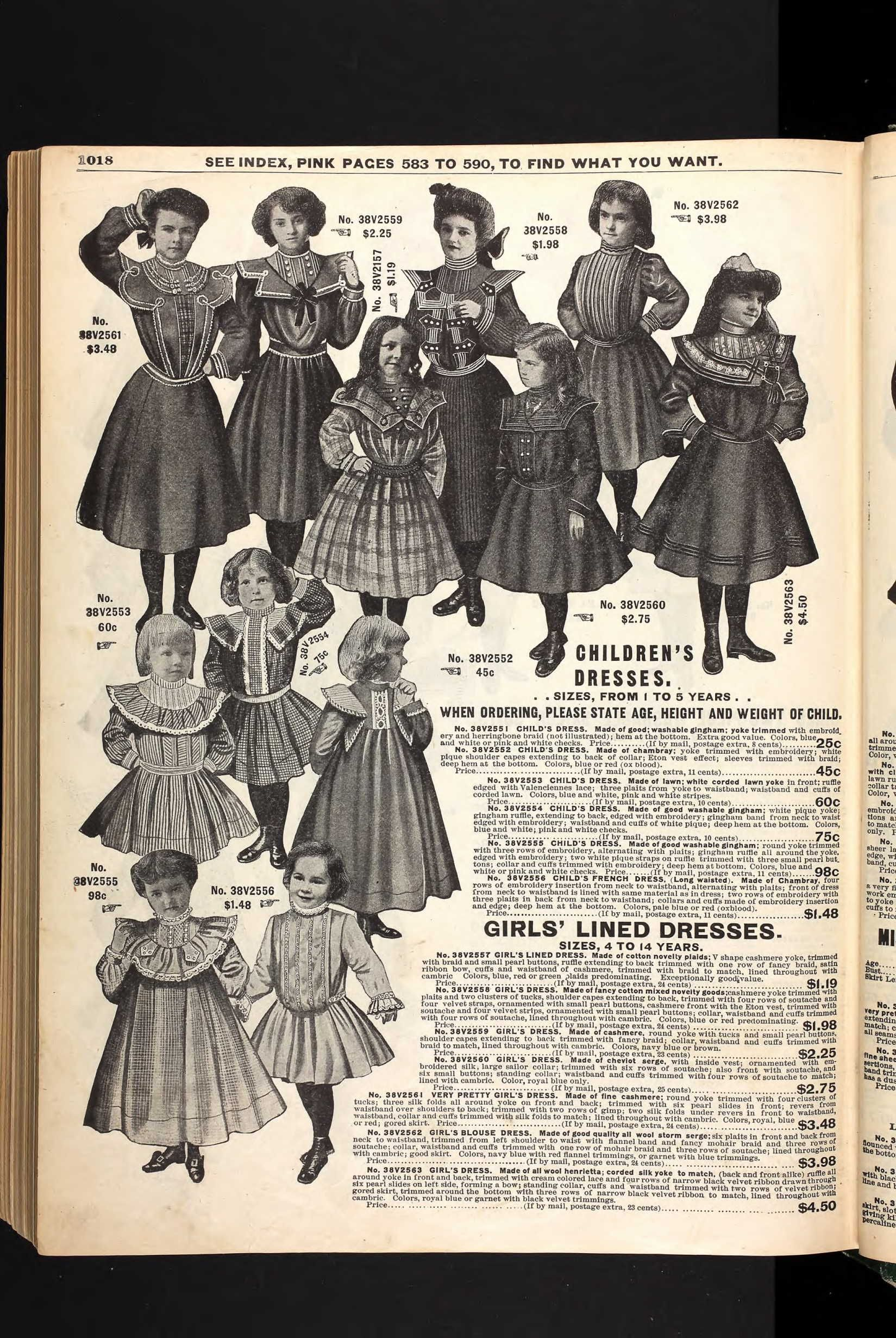 733421bfa0c3 1903 Girls dresses by Sears. | Vintage Fashion: Tots to Teens in ...