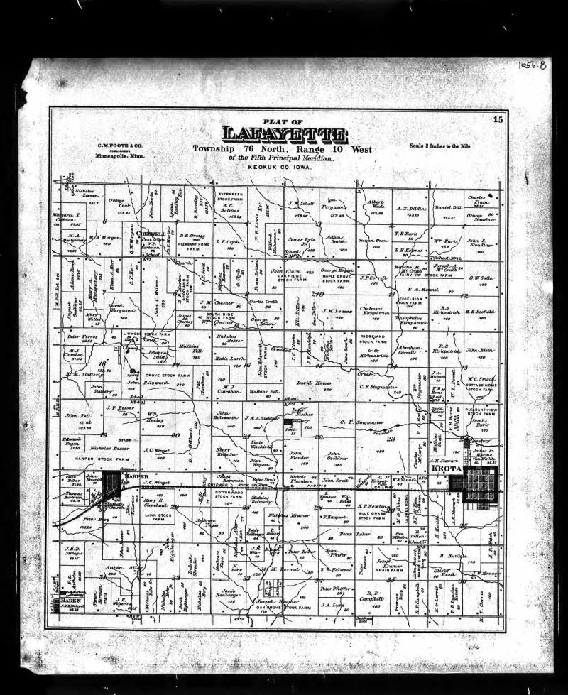 U.S., Indexed County Land Ownership Maps, 1860-1918. Shows M A ...