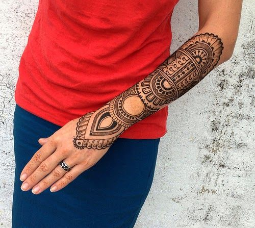 Henna Sleeve Tattoo Designs: Henna Sleeve