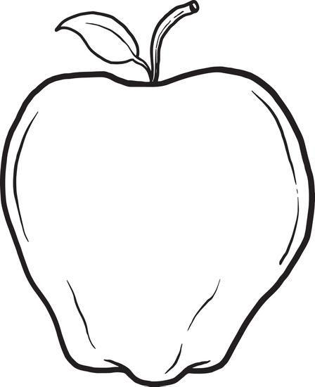 Apple Coloring Page Sanat Etkinlikleri Ve Sanat