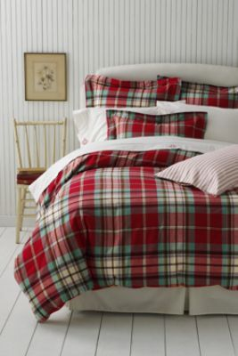 Charming Flannel Antique Plaid Duvet Cover Or Sham From Landsu0027 End Such Christmasy  Bedding, I