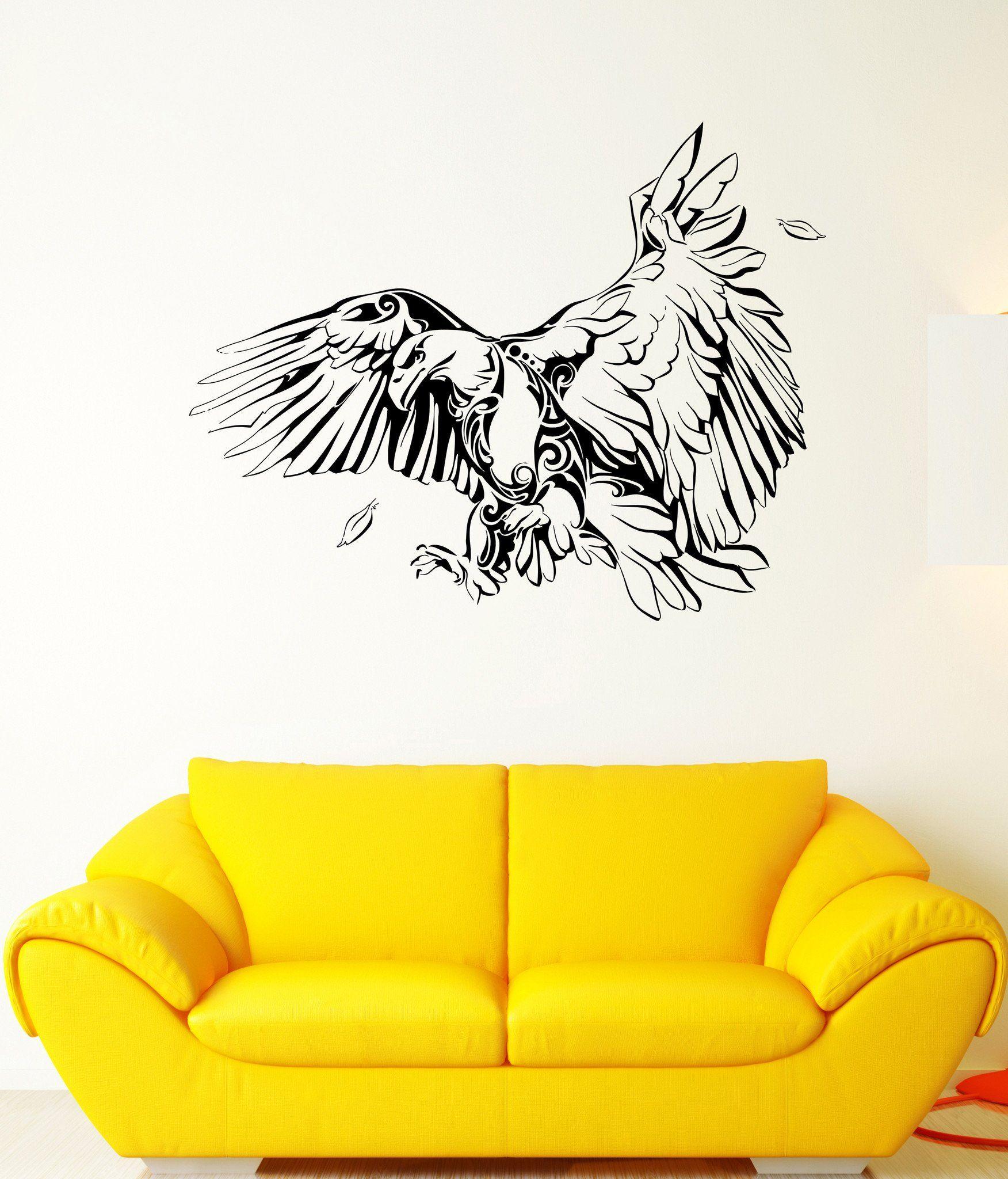 Wall Stickers Eagle Bird Predator Flap Flying Wings Hunter Vinyl ...