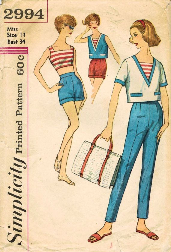 1950s Simplicity 2994 Vintage Sewing Pattern by midvalecottage ...